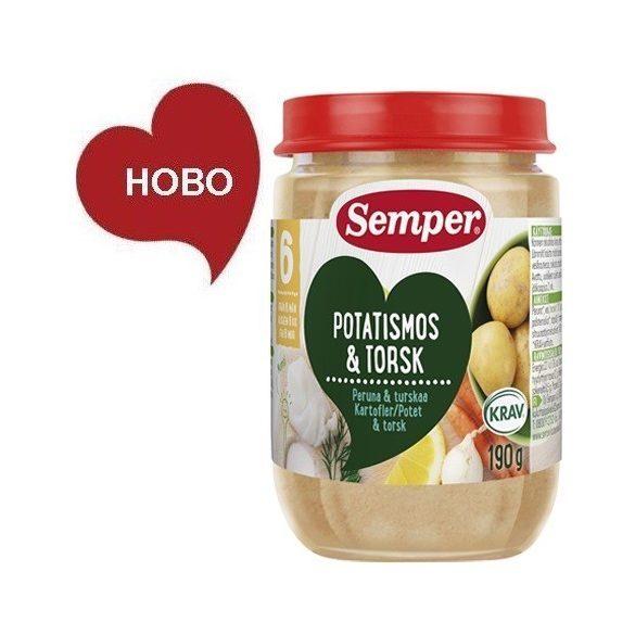 Semper ЕКО Риба Треска с картофено пюре - 190 г