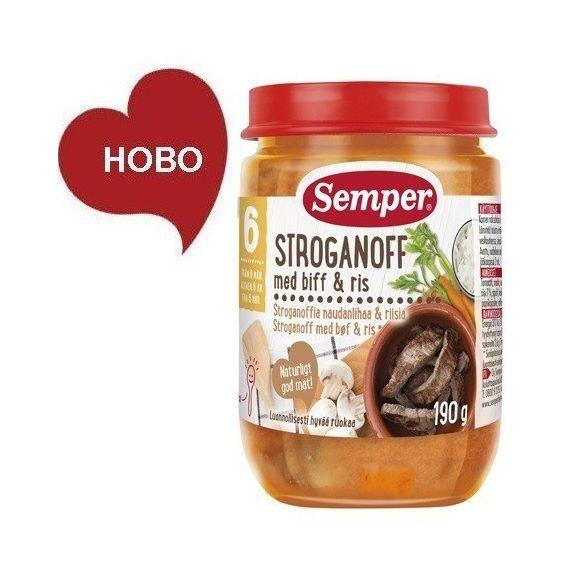 Semper Бьоф Строганов с ориз- 190 гр. 6м