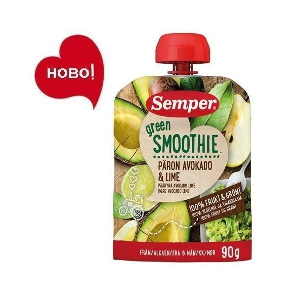 Семпер / Semper Зелено смути с круша, авокадо и лайм 6м-90гр