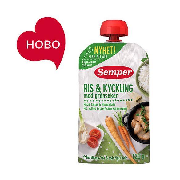 Семпер / Semper  Пиле с ориз и зеленчуци - готово за ядене