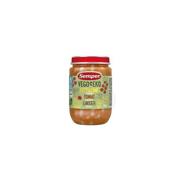 Semper Био фетучини с домат и леща  8м