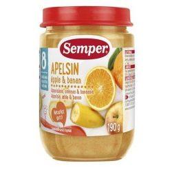 Semper Портокали, ябълки и банани 8 месеца 190g
