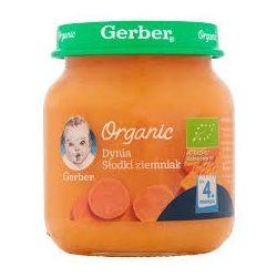 GERBER - Гербер пюре Organic тиква със сладък картоф - 125g