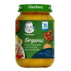 GERBER - Гербер Пюре Organic Сладък картоф със зел. и пилешко месо - 190g