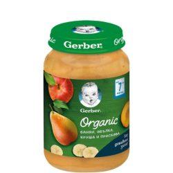 GERBER - Гербер пюре Organic  Банан , ябълка, круша, праскова, 190 g