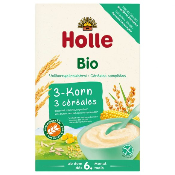 Holle Био Каша с 3 вида зърна 250 г - с био сертификат Demeter