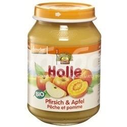 Holle БИО Пюре от ябълки и праскови