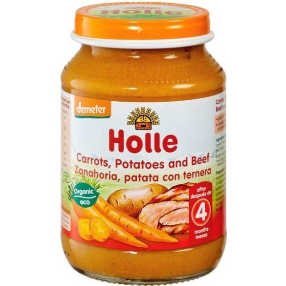 Holle Био пюре моркови картофи и говеждо 190 г