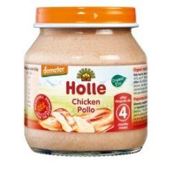 Holle Био пюре пилешко месо 125 г - с био сертификат Demeter