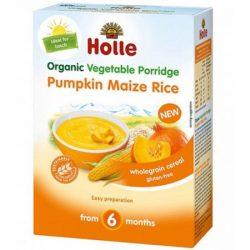 Holle Био зеленчукова каша от тиква,царевица и ориз 6+