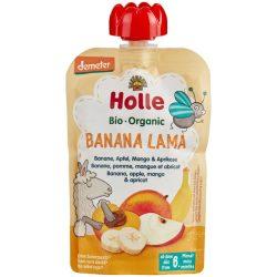 Holle БИО Банан, ябълка, манго и кайсия 100g