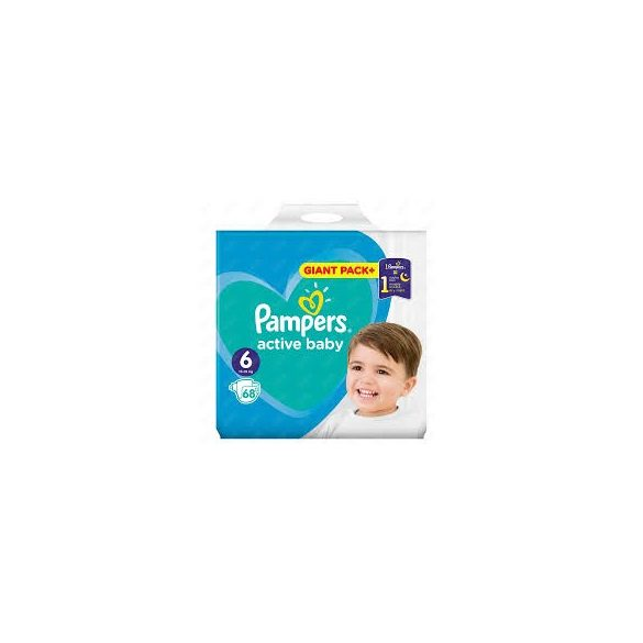 Pampers Active Baby Пелени 6 / 13-18 кг/ 68бр.