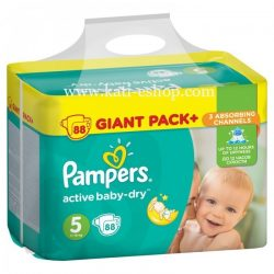 Pampers  Пелени Active Baby 5  /11-18/ кг 88бр.