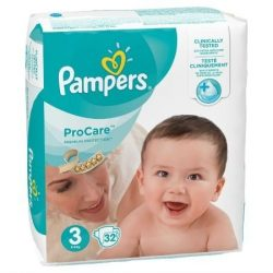 PAMPERS PRO CARE 3 (5-9кг.) 32 броя