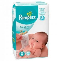 PAMPERS PRO CARE 0 (1-2.5кг.) 38 броя