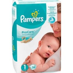 PAMPERS PRO CARE 1 (2-5кг.) 38 броя