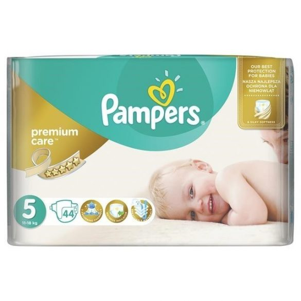 PAMPERS PREMIUM CARE 5 (11-18 кг.) 44 броя