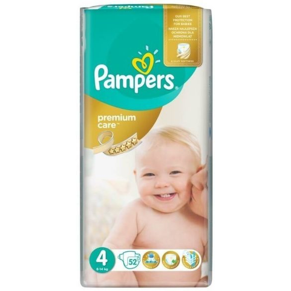 PAMPERS PREMIUM CARE 4 (8-14кг.) 52 броя
