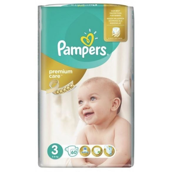 PAMPERS PREMIUM CARE 3 (6-10 кг.) 60 броя
