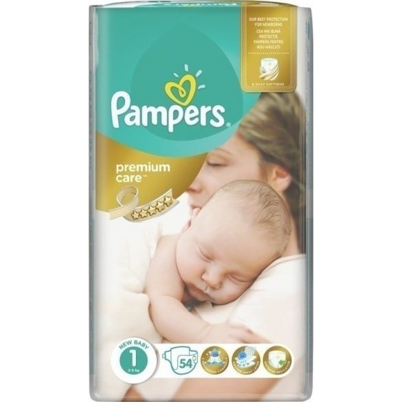 PAMPERS PREMIUM CARE Newborn 1  (2-5кг.) 54 броя