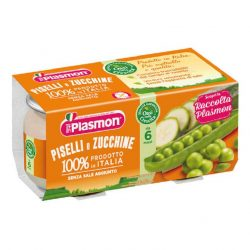 Плазмон / Plasmon Грах и тиквички 6м./ 2 х 80гр/