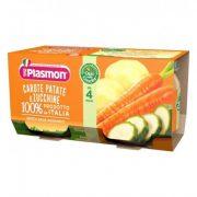 Плазмон / Plasmon Морков, картоф и тиквички 2 x 80g /4м