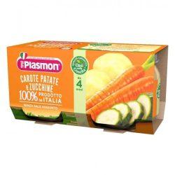 Плазмон / Plasmon Морков, картоф и тиквички 2 Х 80гр/4м