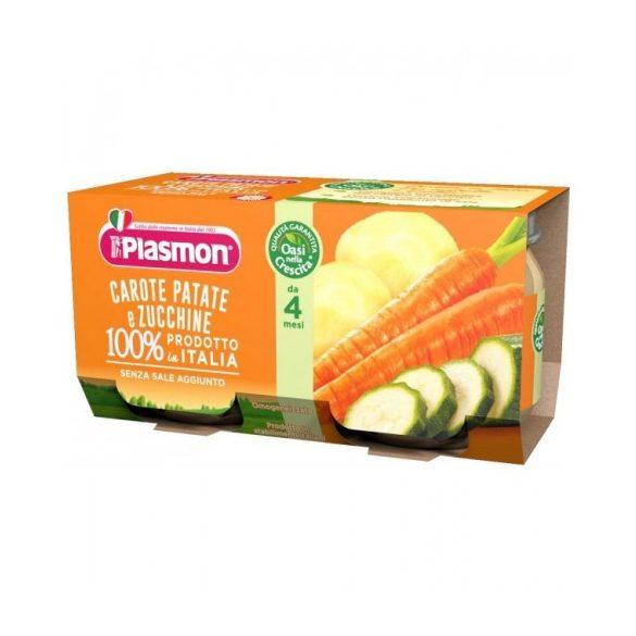Плазмон / Plasmon Морков, картоф и тиквички 80g /4м