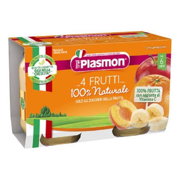 Плазмон / Plasmon ПЮРЕ ПЛОДОВ МИКС, 6+м./104г /