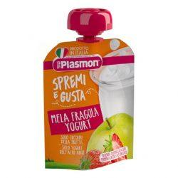 Плазмон / Plasmon  ПЛОДОВА ЗАКУСКА ЯГОДА С ЙОГУРТ 10+м 85мл
