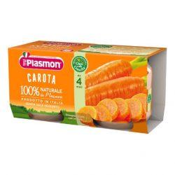 Плазмон / Plasmon Морков  / 2 х 80гр/4м