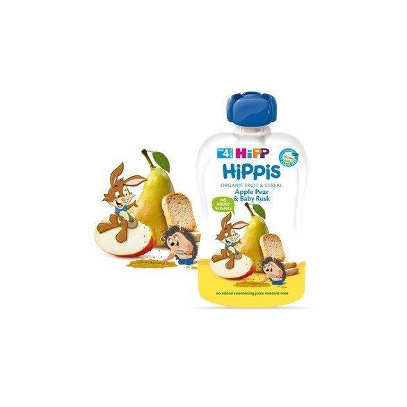 HIPP Био Плодова закуска ябълка,круша и сухар ( 6БР. Х 100Г )