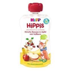 HIPP Био Плодова закуска Ябълка,вишна,банан с пълнозърнести култури