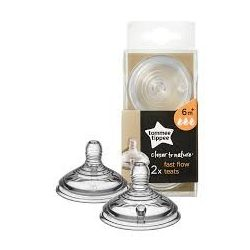 Tommee Tippee Биберони Easi-Vent Fast - 3 капки 6m+, 2 бр./оп.