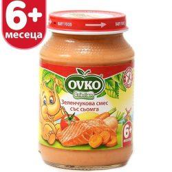 Оvko Сьомга със зеленчуци от 6-ия месец 190 гр.