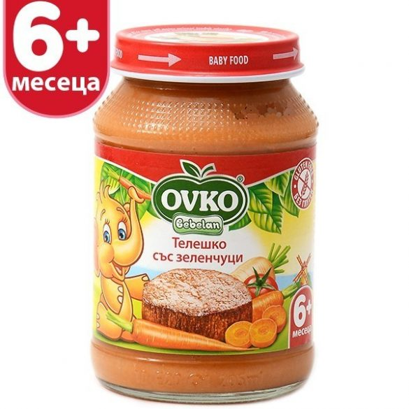 Оvko Телешко със зеленчуци от 6-ия месец 190 гр.