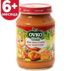 Оvko Фин заек и пиле със зеленчуци от 6-ия месец 190 гр.