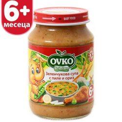 Оvko Зеленчукова супа с пилe и ориз от 6-ия месец 190 гр.