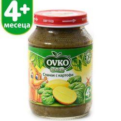 Оvko Спанак с картофи от 4-ия месец 190 гр.