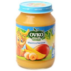 Ovko Манго с банани от 4-ия месец 190 гр.