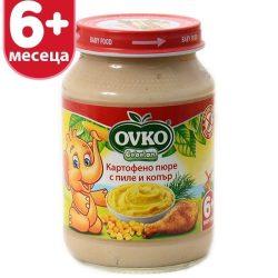 Оvko Картофено пюре с пиле и копър 190 гр.
