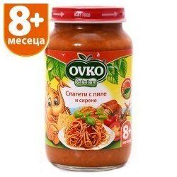 Оvko Спагети с пиле и сирене от 8-ия месец 220 гр.