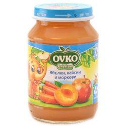 Ovko Ябълки, кайсии, и моркови от 4-ия месец 190 гр.