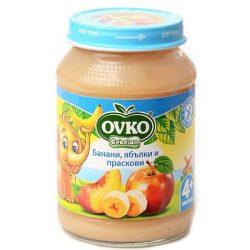 Ovko Банани с ябълки и праскови от 4-ия месец 190 гр.