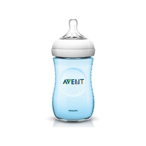 Avent Бутилка за бебе Natural 260мл / синя