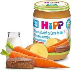 HIPP БИО Моркови и картофи с агнешко 4м