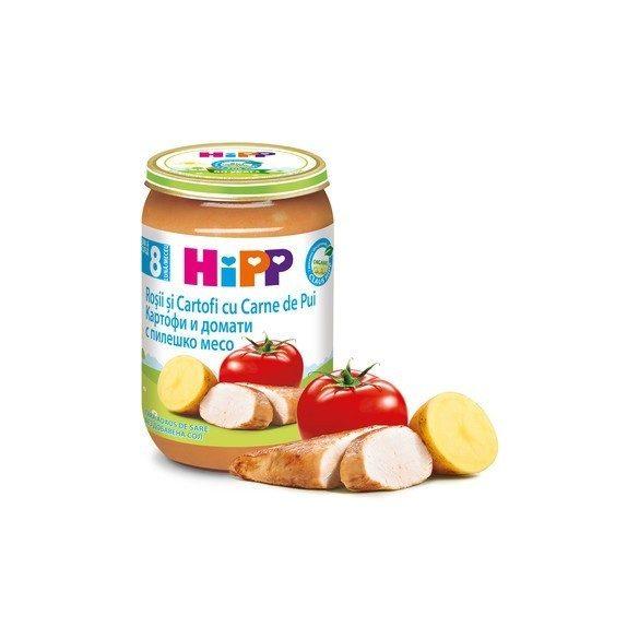 HIPP БИО Картофи и домати   с пилешко месо