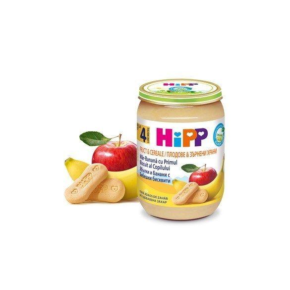 БИО Ябълки и банани с бебешки бисквити