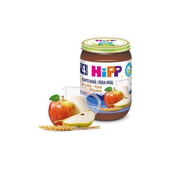 HIPP БИО Млечна каша плодове грис ябълка и круша