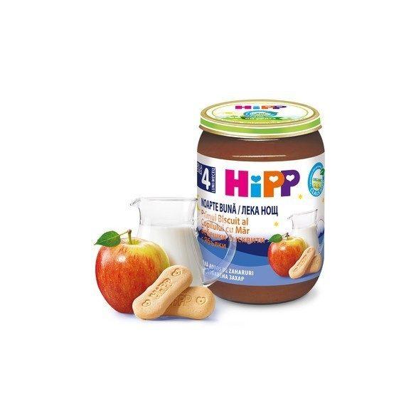 HIPP БИО Млечна каша бебешки бисквити и ябълка